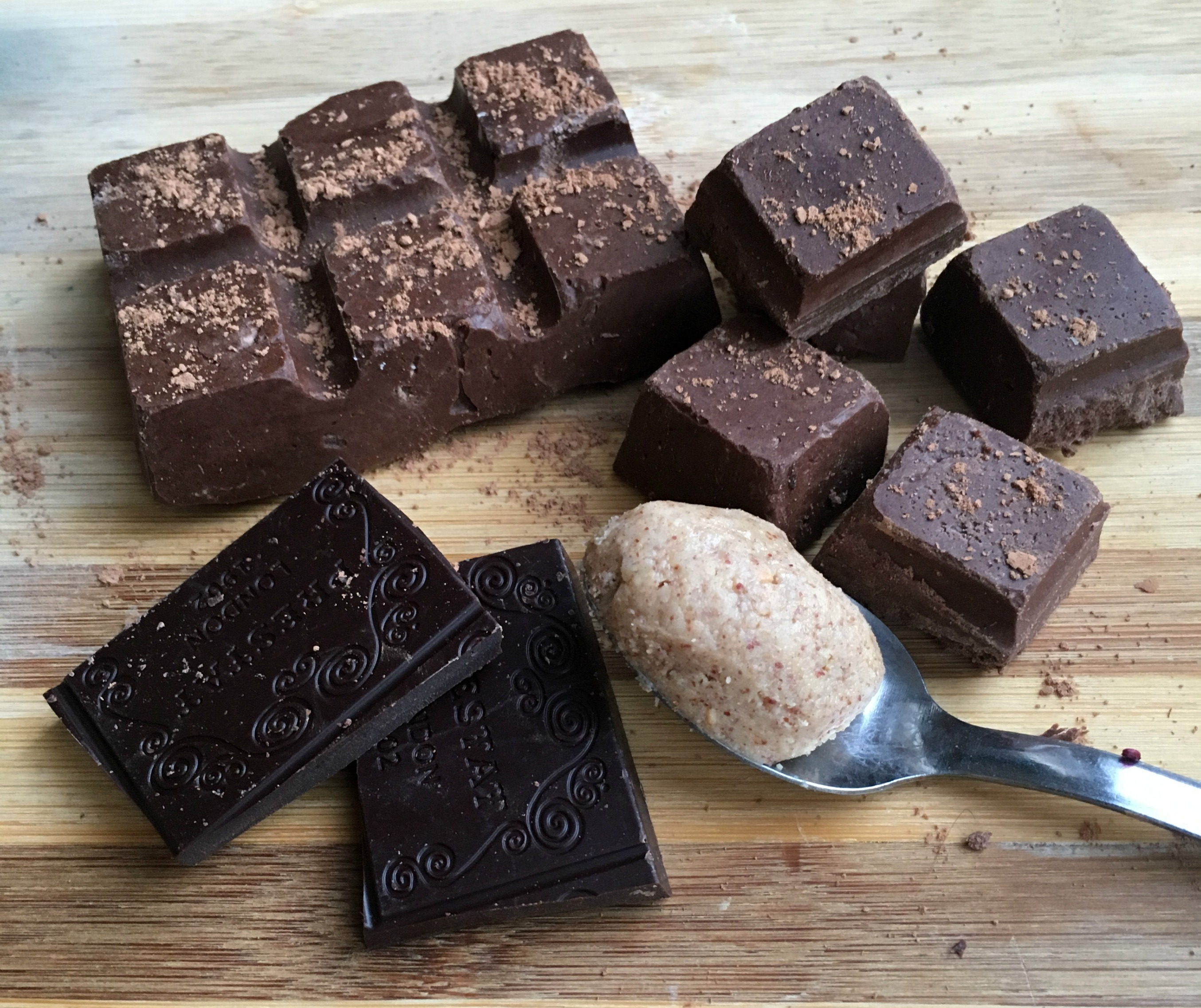 chocolate-almond-butter-fudge